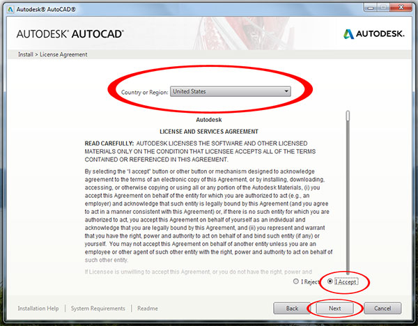 Step to Download and install Autodesk AutoCAD It 2015