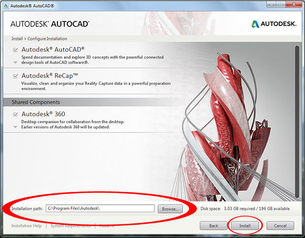 Step to Download and install Autodesk AutoCAD It 2015-step6