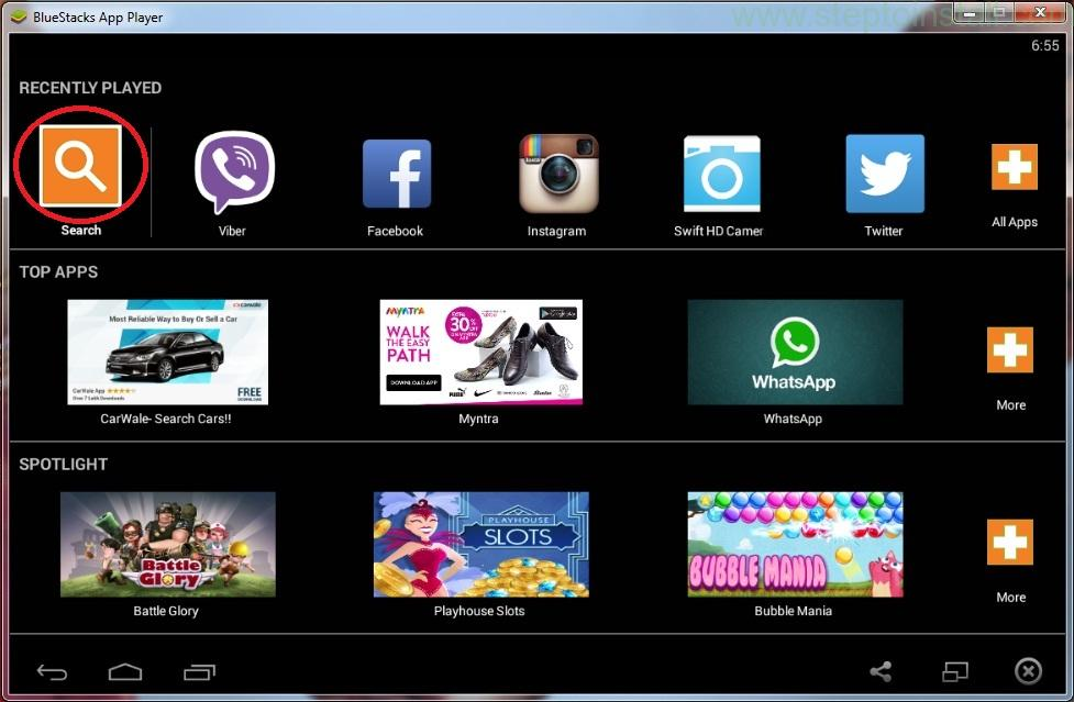 How to install run BlueStacks App Player screen on Computer Laptop windows - steptoinstall.com