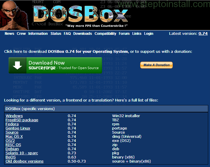 How to install DOSBox on Windows 7 - 1