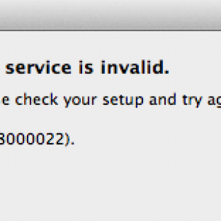 The service is invalid Please check your setup and try again (0XE8000022) error in IPhone - Steptoinstall
