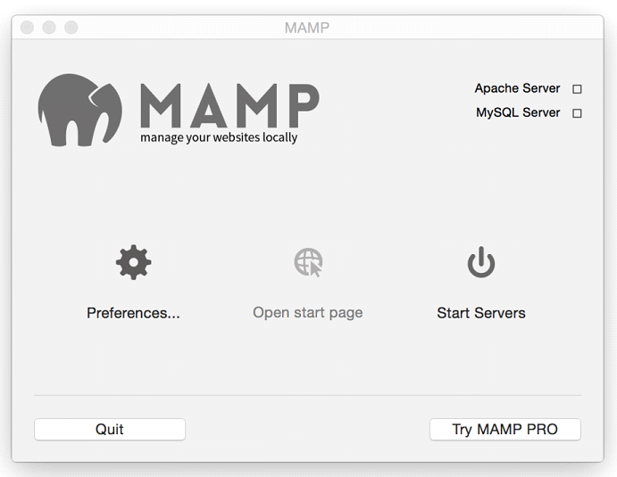 Installation of MAMP Server