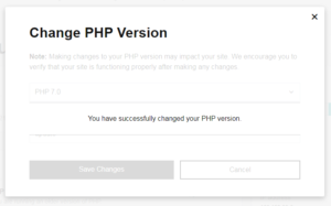 Update/Change PHP version in Godaddy